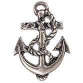 Pewter Anchor Metal Knob